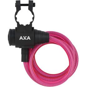 Axa Zipp Candado Cable Espiral Ø8mm 120cm, pink